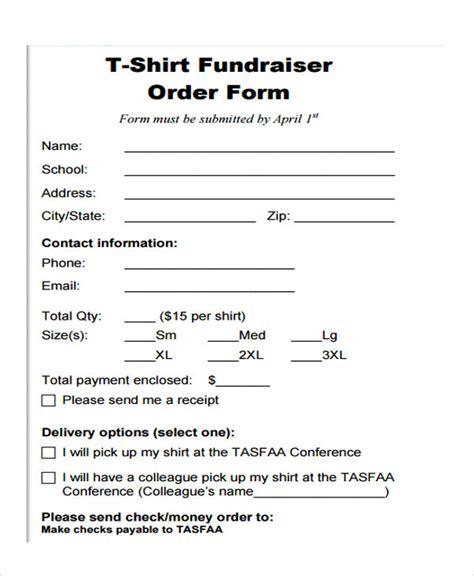 fundraiser order forms  sample  format