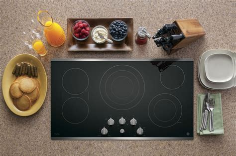ppsjss ge profile series  built  knob control cooktop stainless steel