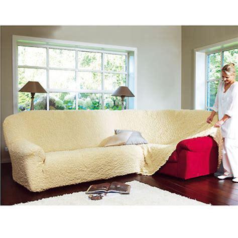 housse de canapé d angle sur mesure housse canapé d 39 angle gaufrée brio écru anniversaire