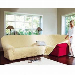 housse canape d39angle gaufree brio ecru anniversaire With tapis design avec housse matelassée canapé