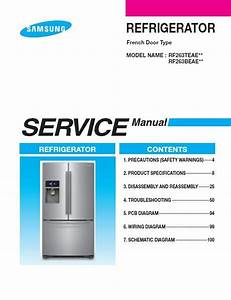 Samsung Rf263beaesr Refrigerator Service Manual  U0026 Troubleshooting