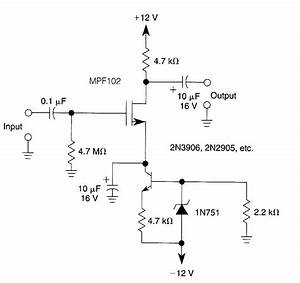 Jfet Amp With Current Source Biasing