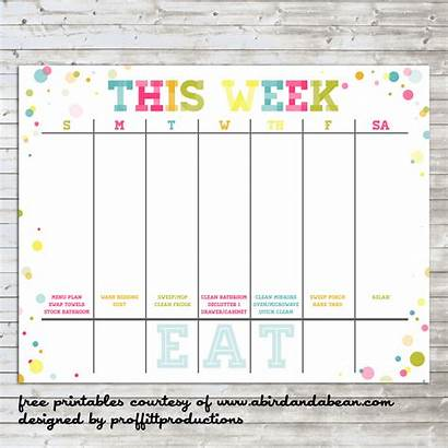 Weekly Calendar Printable Calendars Week Colorful Schedule
