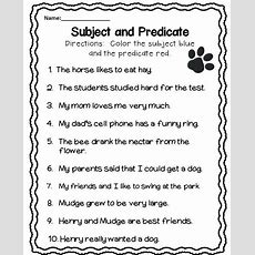 Subject And Predicate Worksheet  Free Lessons  Subject, Predicate Worksheets, Subject