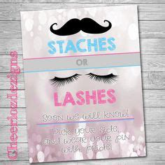 gender reveal shirts staches  lashes gender reveal