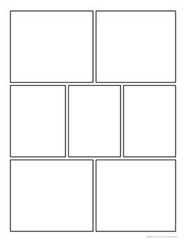 Comic Strip Template Pages For Creative