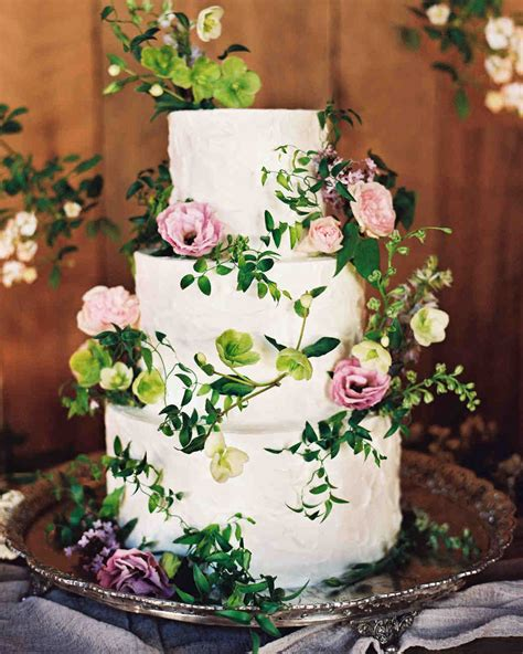 62 Fresh Floral Wedding Cakes Martha Stewart Weddings