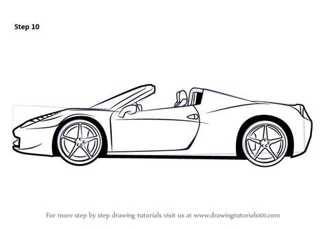 ferrari sketch view learn how to draw a ferrari sports cars step by step