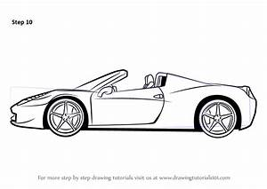 Learn How to Draw a Ferrari (Sports Cars) Step by Step ...