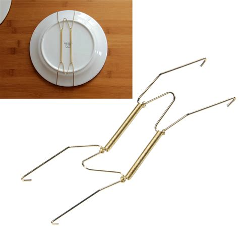 plate spring flexible wire wall display hanger holder home retro cafe decor dg ebay