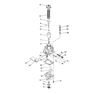 Polari Trailblazer 250 Part Diagram by 3130425 Polaris Carburetor 2wheelpros
