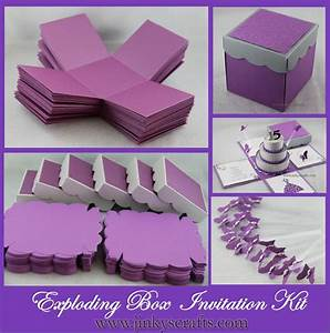 exploding box invitation party invitations ideas With diy wedding invitations in a box