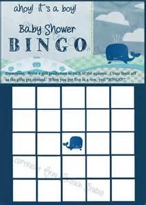 Boy Baby Shower Bingo Printable Games