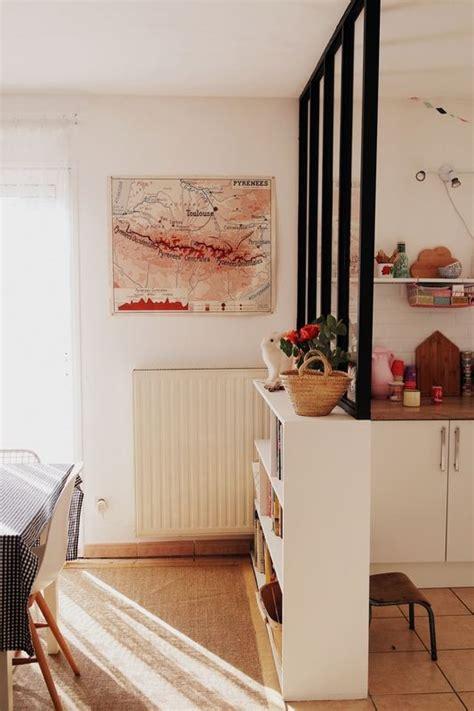 cloison separation cuisine sejour cloison entree salon idées décoration intérieure