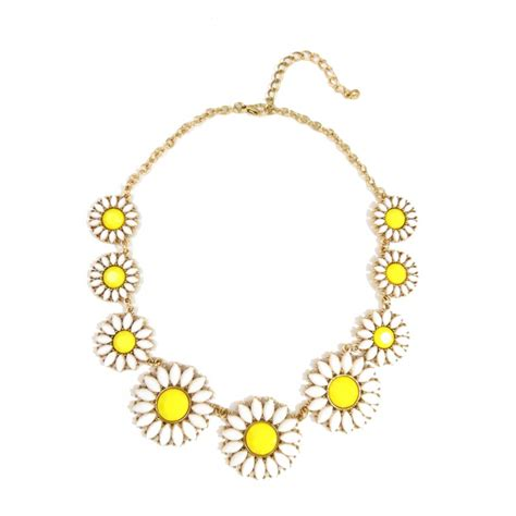daisy floral bauble stone bridal statement necklace