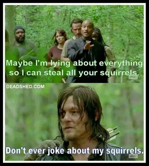 Walking Memes - back off my squirrels father daryl dixon father gabriel twd norman reedus the walking