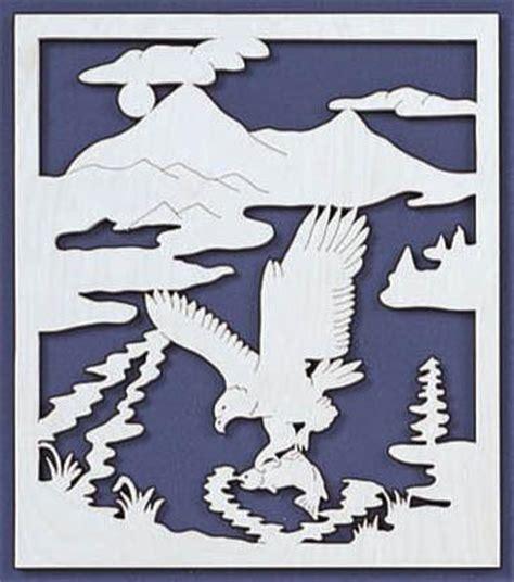 eagle fishing scroll  fretwork pattern scrollsawcom