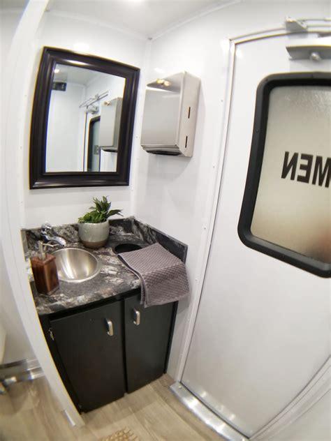 luxury mobile restroom trailers rentals mccarthy tents