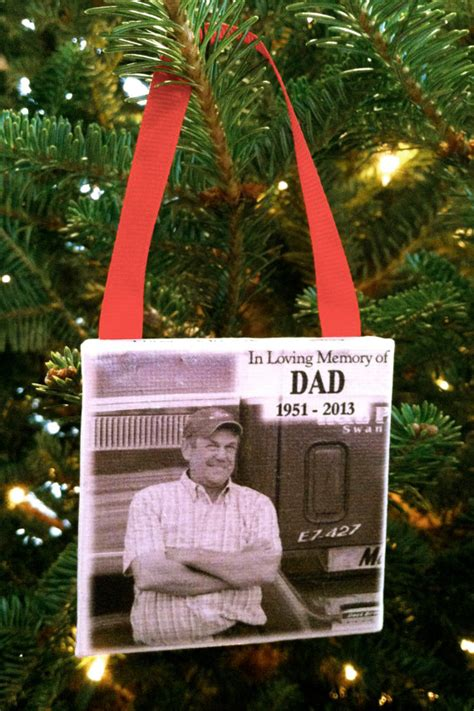 christmas ideas fpr someone who lost a loved one ornament memorial personalized photo ornament on canvas