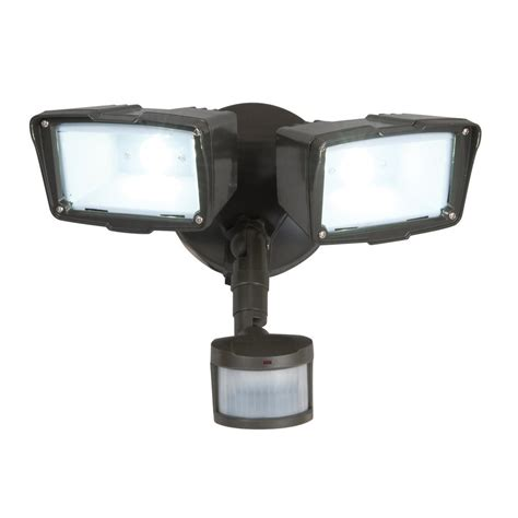 all pro 180 degree 2 led motion activated flood light