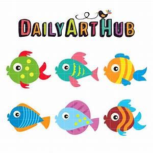 Cute Fish Clip Art Set – Daily Art Hub – Free Clip Art ...