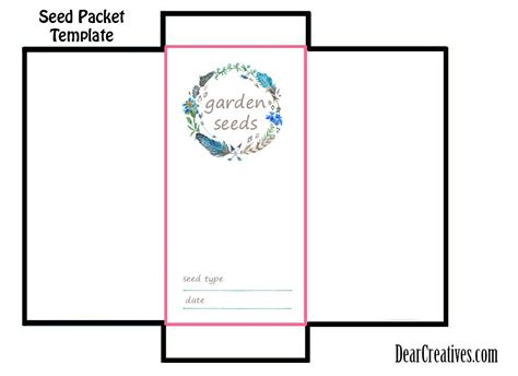 seed packet template seed packet template free printable and diy for your gardening seeds