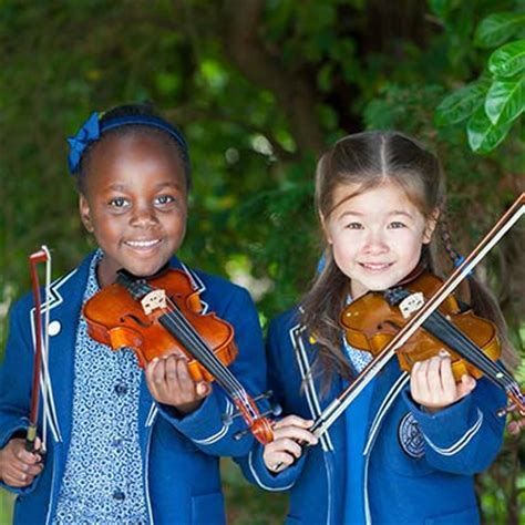independent school staffordshire st dominic s priory 246   children playing instrument