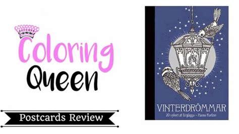vinterdrommar winter dreams adult coloring postcards
