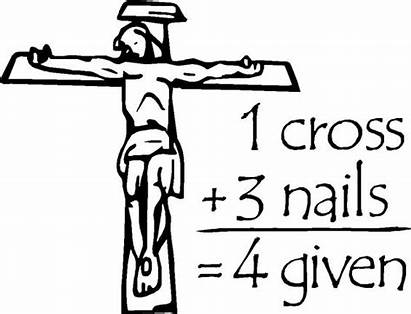 Cross Crosses Jesus Coloring Pages Roses Nails