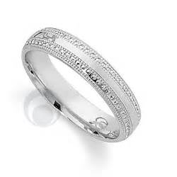 platinum wedding bands pretty patterened platinum wedding ring wedding dress from the platinum ring company hitched co uk