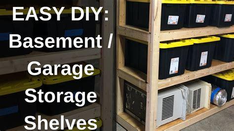 diy   build strong storage shelves  basement