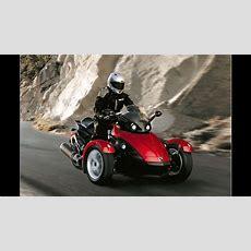 Motorrad Mit Drei Rädern Der Brp Canam Spyder Roadster