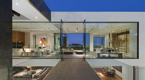 dramatic glass home overlooking  la basin