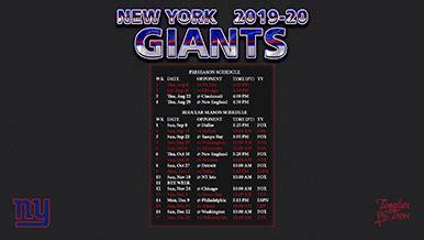 york giants wallpaper schedule