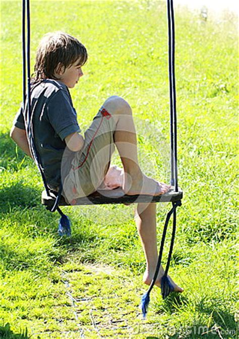 wet boy   swing royalty  stock image image