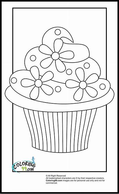 Coloring Cupcake Pages Printable Colouring Cupcakes