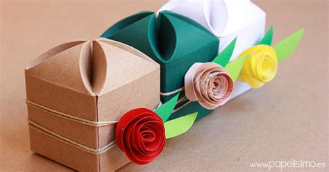 caja de cartulina coraz 243 n con plantilla papelisimo