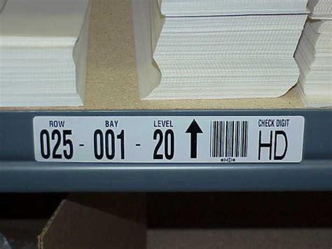 warehouse labels rack labels rack bin labels location