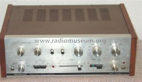 Solid State Stereo Amplifier Ampl Mixer Monacor Brem