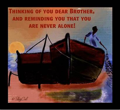 Thinking Brother Dear Card Send Thoughts Him