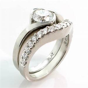 Engagement rings and wedding band sets unusual navokalcom for Awesome wedding ring sets