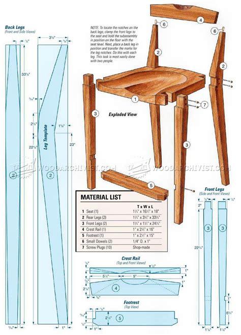 Kitchen Chair Plans • Woodarchivist
