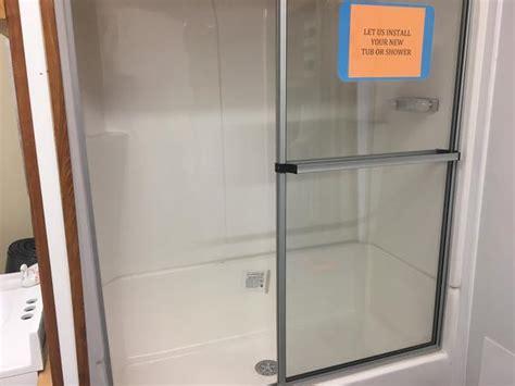 piece fiberglass shower ml mobile home supply