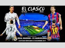 REAL MADRID VS BARCELONA, 23122017 EL CLASICO, PES 2018