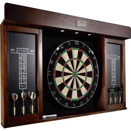 Dartboard Cabinets by Barrington 40 Inch Dartboard Cabinet With Led Light