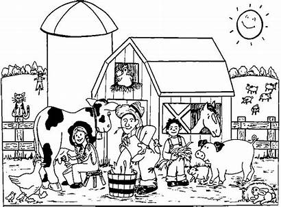 Coloring Farm Pages Animals