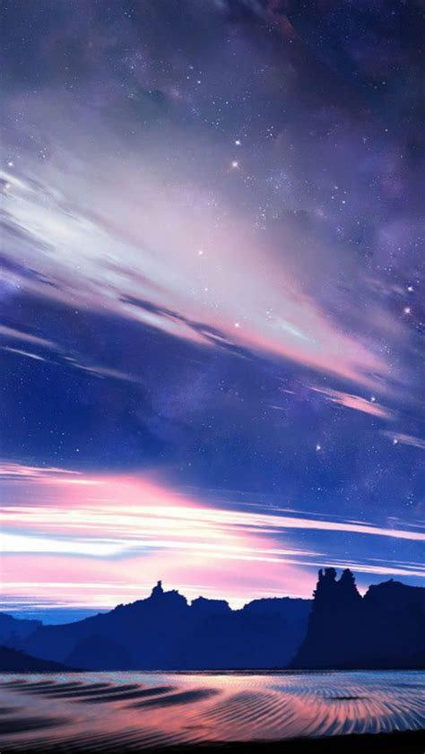 fantasy shiny skyview  plain mountains iphone