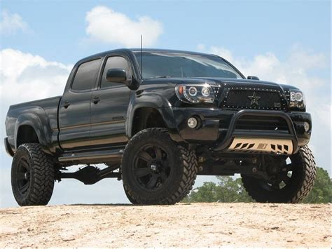 toyota tacoma blacked out lifted 4x4 lifted blacked out grill pro comp 6 inch