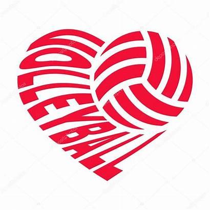 Volleyball Heart Clipart Vector Shape Ball Background