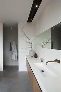 luminaire bois salle de bain mzaolcom With carrelage adhesif salle de bain avec plafonnier led rectangulaire